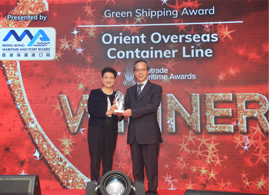 Green Shipping Award WINNER: Orient Overseas Container Line Ltd